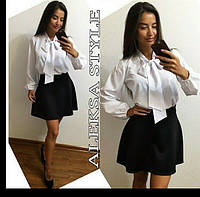 Женский модный костюм: блуза и юбка (3 цвета) , фото 1