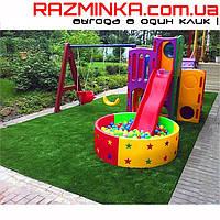 Покрытие для детской площадки искусственная трава пазл 534х534х20мм, 1шт
