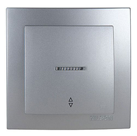 NILSON TOURAN Металлик Выключатель проходной с подсветкой серебро
