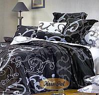 Двуспальный комплект постельного белья евро 200*220 хлопок  (6844) TM KRISPOL Украина