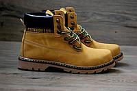 Зимние мужские ботинки Caterpillar 2071 коричневые