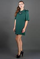 Короткое женское платье Блуми р.44-52 зеленый