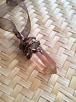"Кулон с лемурийским кристаллом, кулон ручной работы ""Утгард""."