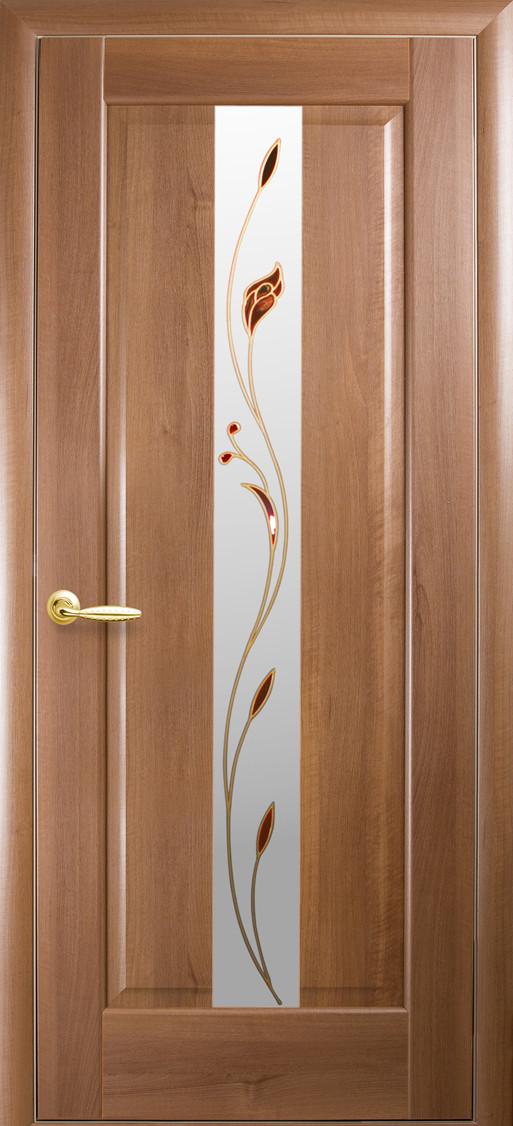 Межкомнатные двери Новый Стиль Премьера стекло с рисунком