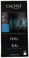Шоколад черный CACHET Peru (64% Какао) 100г.