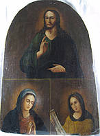 Икона Иисус  Христос, Божья матерь и Параскева Пятница   18-й век