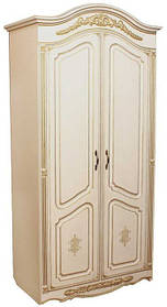 Гармония шкаф 2Д 2200х1080х555мм белая патина   Альфа