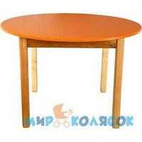 ФИНЕКС ПЛЮС Столик деревянный с цветной круглой столешницей оранжевый (032)