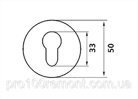 Накладка под цилиндр дверная МВМ E5, фото 2