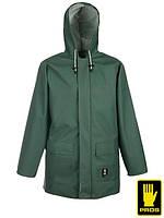 Куртка кислотостойкая защитная рабочая зеленая (спецодежда защитная) AJ-KW616 Z