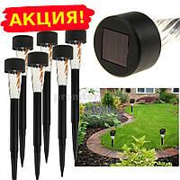 Садовый светильник на солнечной батарее 45х300мм, основа пластик (упаковка 4шт)