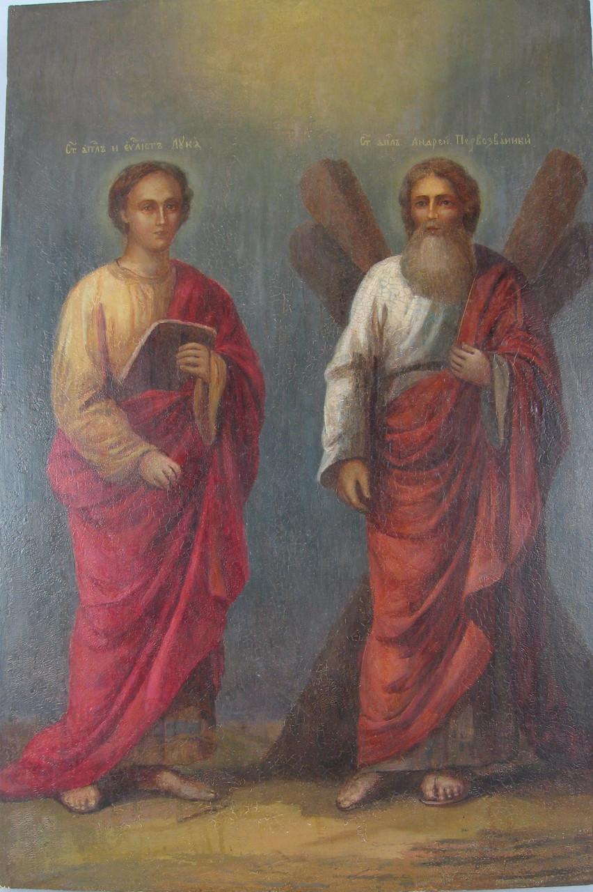 Икона Андрея Первозванного и евангелиста Луки 18 век