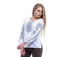 """Белая вышитая блуза с длинным рукавом """"Оберег"""", фото 1"""