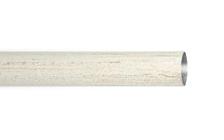 Труба гладкая 1,6 м. для кованого карниза 16 мм белое золото