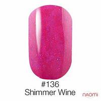 Гель-лак Naomi 136 Shimmer Wine, 6ml