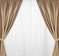 Готовые шторы  гостинную с шторной структурной ткани