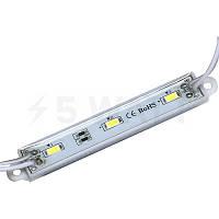 Светодиодный модуль BRT 5630-3 led WW 1,5W 3000K, 12В, IP65 теплый белый