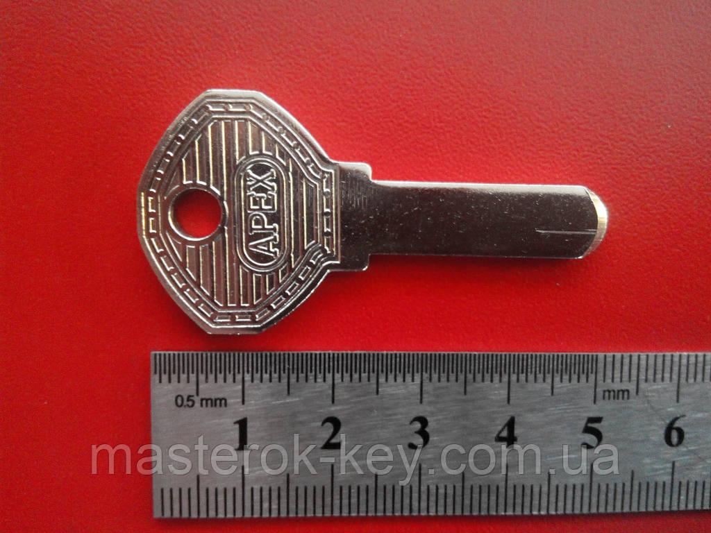 Заготовка ключа APECS 2.5мм — язык малый металл