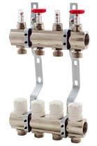 Коллектор Fado в полном сборе на 10 выходов со смесительной группой, термоголовкой Fado, расходомерами., фото 3