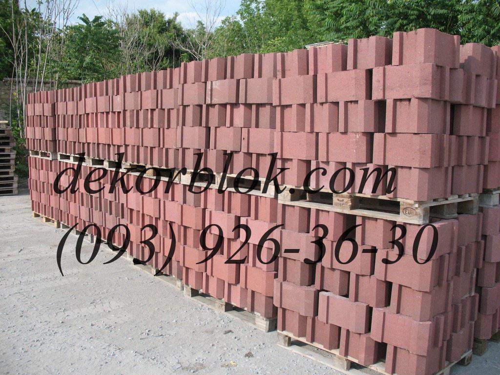 Блоки для столбов забора декоративные