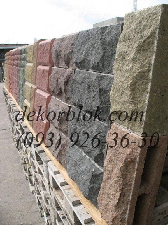 Шлакоблок фактурный рваный камень