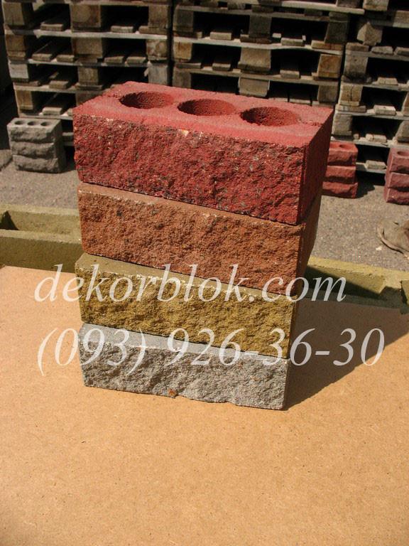 Облицовочный кирпич рваный камень