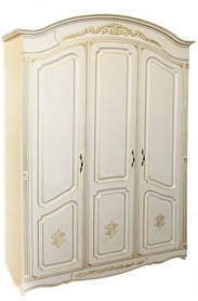 Гармония шкаф 3Д 2240х1525х560мм белая патина   Альфа