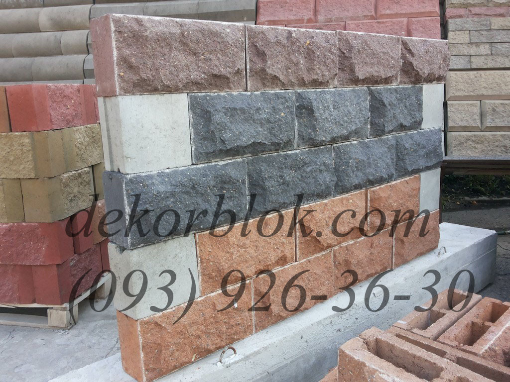 Блоки облицовочные декоративные Гранит