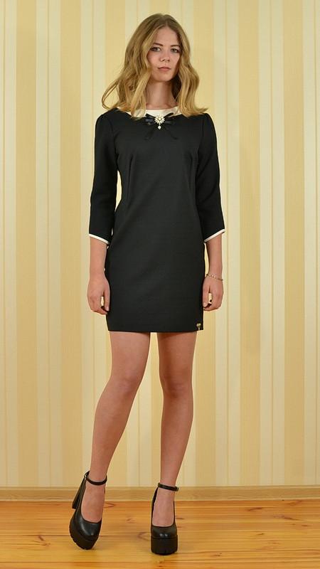 48b875499be Платье короткое чёрное в стиле Коко Шанель