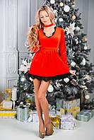 Клубное женское платье с юбкой-клеш