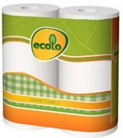 Полотенца бумажные Ecolo двухслойные, 2 рулона