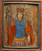 Икона Дмитрий Солунский оплечный    нач 17 века