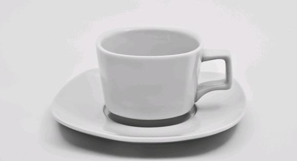 Чашка с блюдцем квадратная 180 мл