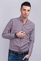Рубашка casual хлопковая, мелкая клетка (42-S)