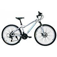 Велосипед Fort Contessa 26 DD женский бело-голубойцветочек