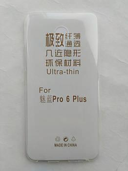 Силиконовый чехол для Meizu Pro 6 Plus ультратонкий прозрачный