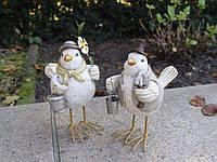 Белые садовые птицы 16cm