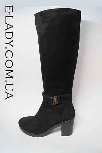 df5e8c927 Демисезонные классические сапоги из натуральной замши на среднем каблуке  черного цвета: продажа, цена в Николаеве. сапоги, полусапожки женские от