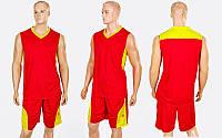 Форма баскетбольная мужская Star LD-8093-2 (PL, р-р XL-5XL, красный-желтый)