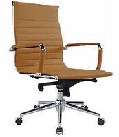 Кресло офисное Алабама М  бежевый точная копия дизайнерского кресла Ribbed EA 117 от Charles and Ray Eames