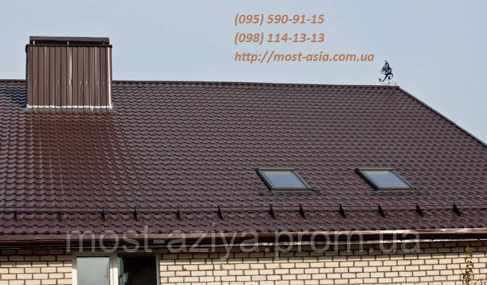 Металочерепиця колір коричнева 8017, шоколад, колір коричневий 8017 (RAL 8017)