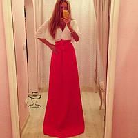 Женское Превосходное длинное Платье макси в пол  стильное и модное   Марфа