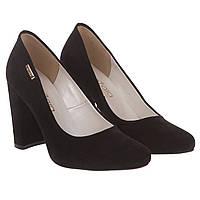 Туфли женские ZanZara (черные, на удобном каблуке, стильные, изысканные)