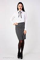 Молодежная юбка - карандаш СЕРАЯ, фото 1