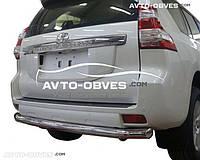 Защита заднего бампера на Toyota Prado 150 2014-..., труба одинарная