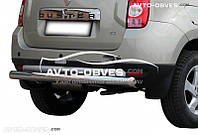 Защита задняя Dacia Duster, труба прямая  (п.к. AK)
