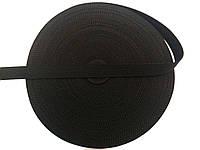 Тесьма сумочная, цвет черный, ширина 2,5см (50м в рул. )