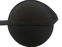 Тесьма сумочная, цвет черный,  ширина 3см (50м в рул. )