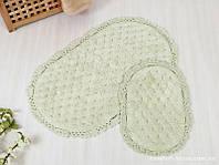 Набор ковриков для ванной Irya - Honey water green серо-зеленый 60*100+40*60
