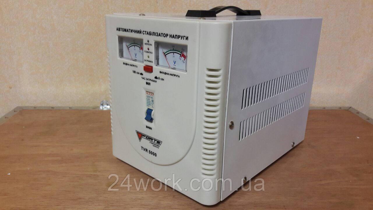 Стабилизатор напряжения FORTE TVR-5000VA(2 аналог.дисплея)